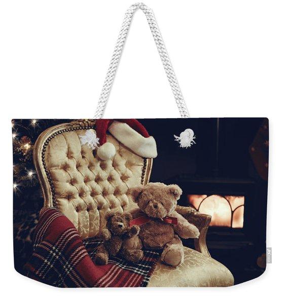 Teddies At Christmas Weekender Tote Bag