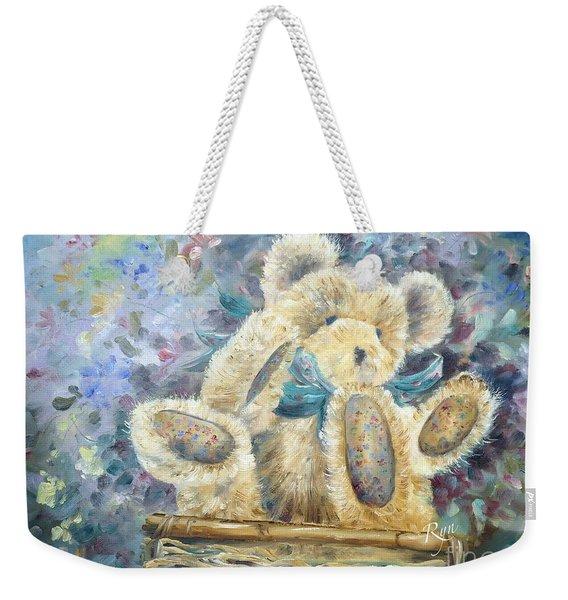 Teddy Bear In Basket Weekender Tote Bag