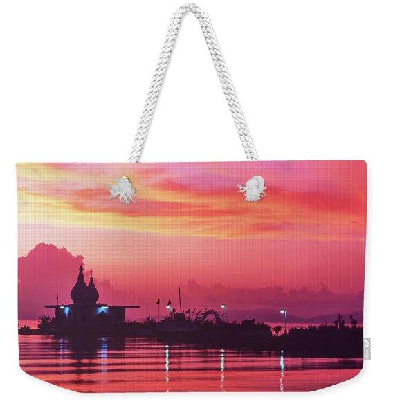 Temple On The Sea Weekender Tote Bag