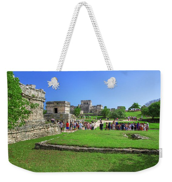 Temples Of Tulum Weekender Tote Bag