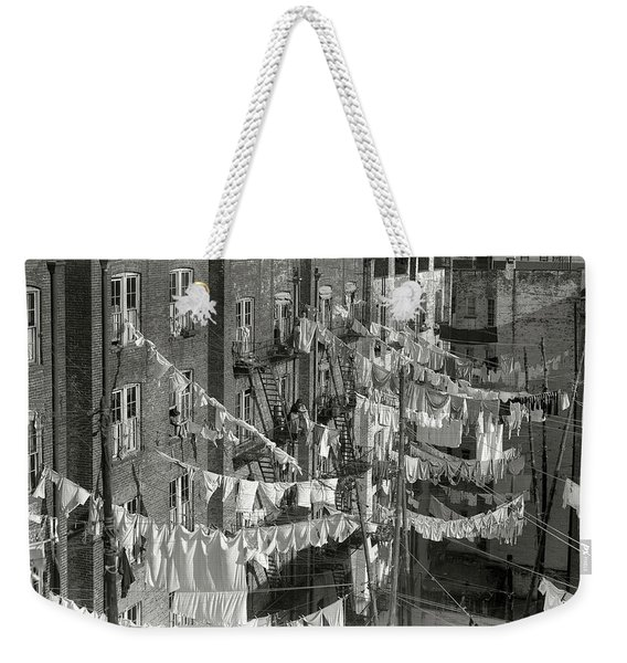 Tenement Laundry Day - New York City C. 1930 Weekender Tote Bag