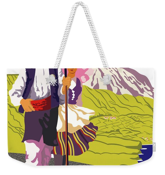 Tenerife, Canary Islands, Couple In Traditional Costumes Weekender Tote Bag