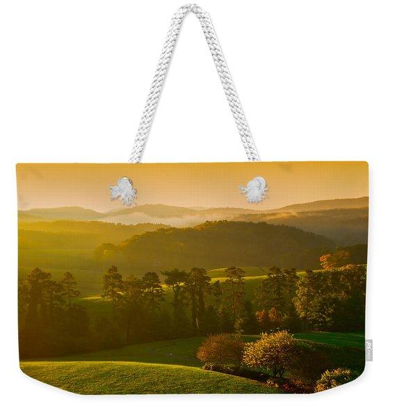 Smokey Mountain Sunrise Weekender Tote Bag