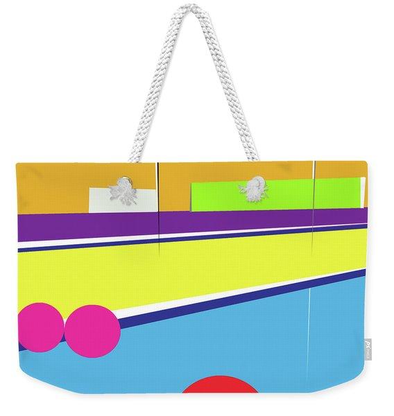 Tennis In Abstraction Weekender Tote Bag