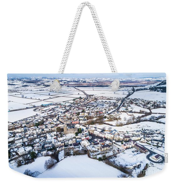 Tregaron In The Snow, From The Air Weekender Tote Bag