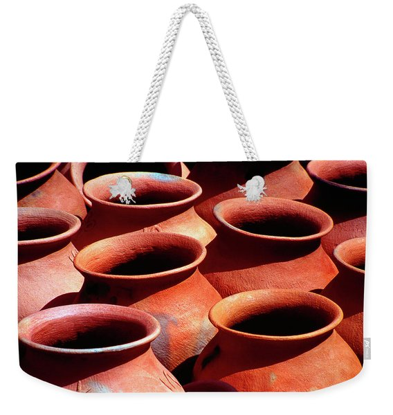 Terra Cota Tinajas Jars In A Row Weekender Tote Bag