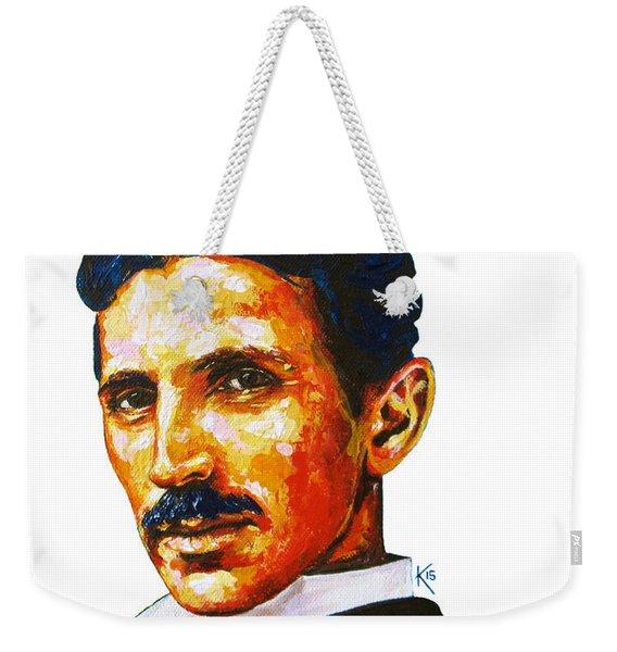 Tesla - Pure Genius Weekender Tote Bag