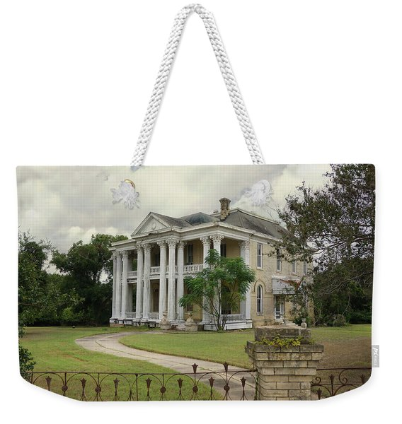 Texas Mansion In Ruin Weekender Tote Bag