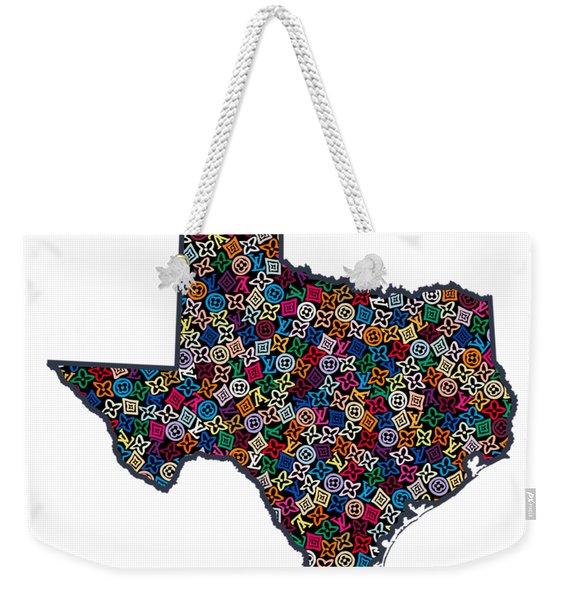 Texas Map - 1 Weekender Tote Bag