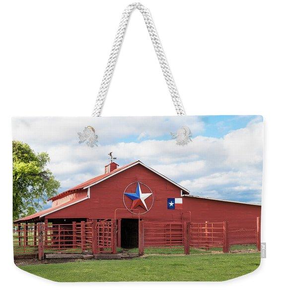 Texas Red Barn Weekender Tote Bag