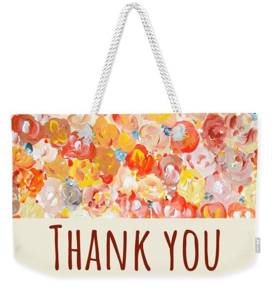 Thank You #2 Weekender Tote Bag