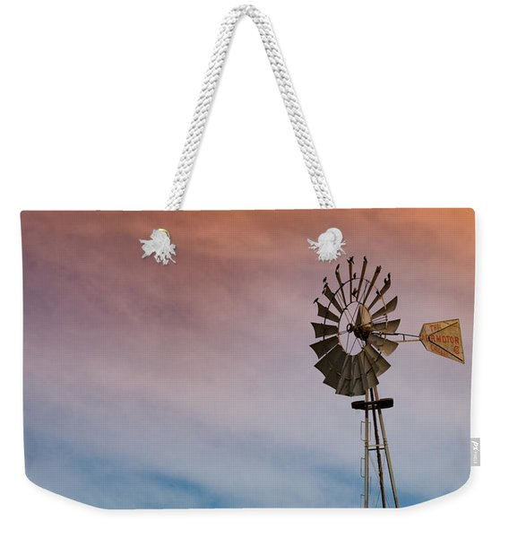 Weekender Tote Bag featuring the photograph The Aermotor Chicago Co. By Mike-hope by Michael Hope