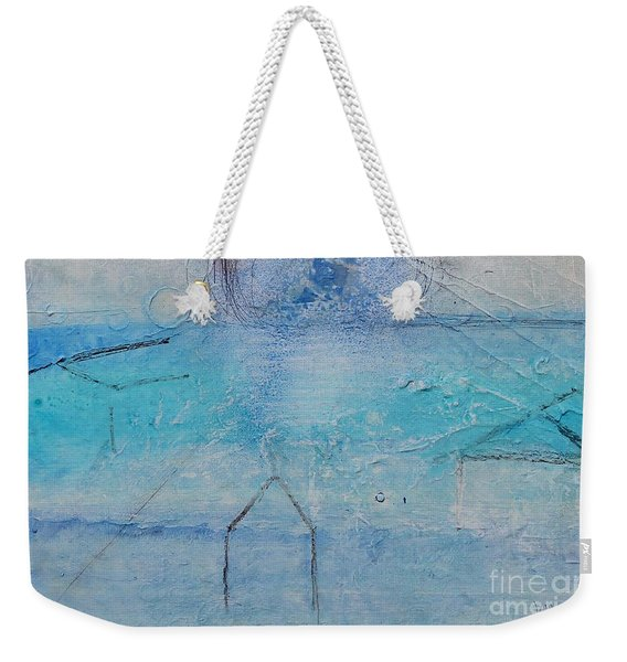 Weekender Tote Bag featuring the painting The Angels Above Us by Kim Nelson