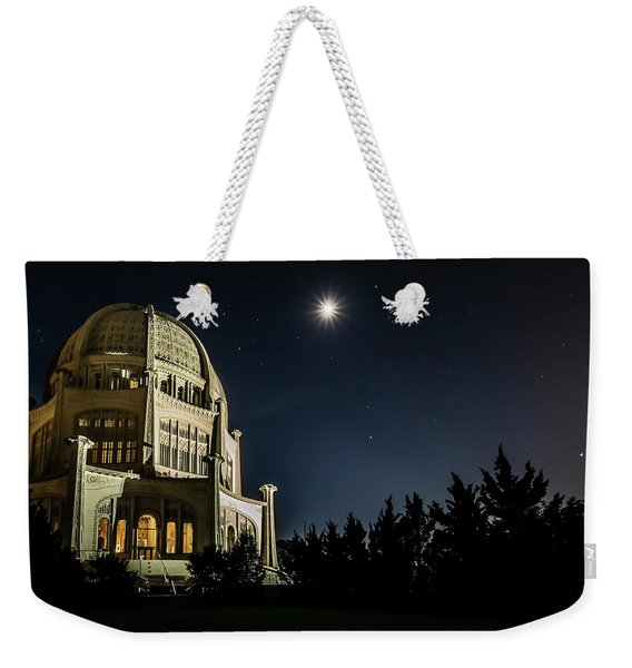 The Bahais Temple On A Starry Night Weekender Tote Bag
