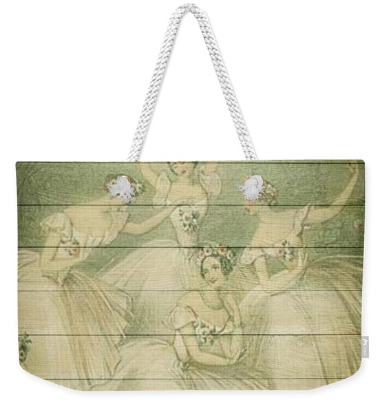 The Ballet Dancers Shabby Chic Vintage Style Portrait Weekender Tote Bag