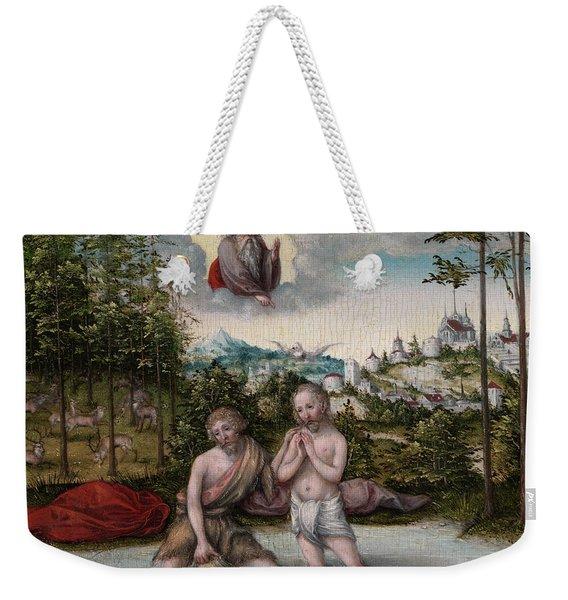 The Baptism Of Christ, 1530 Weekender Tote Bag