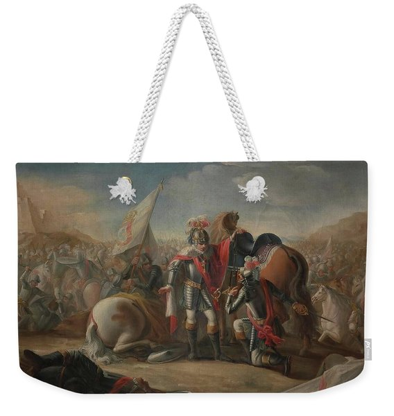 'the Battle Of Aljubarrota'. 1791. Oil On Canvas. John I Of Portugal. Weekender Tote Bag