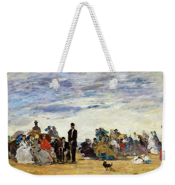 The Beach At Trouville - Digital Remastered Edition Weekender Tote Bag