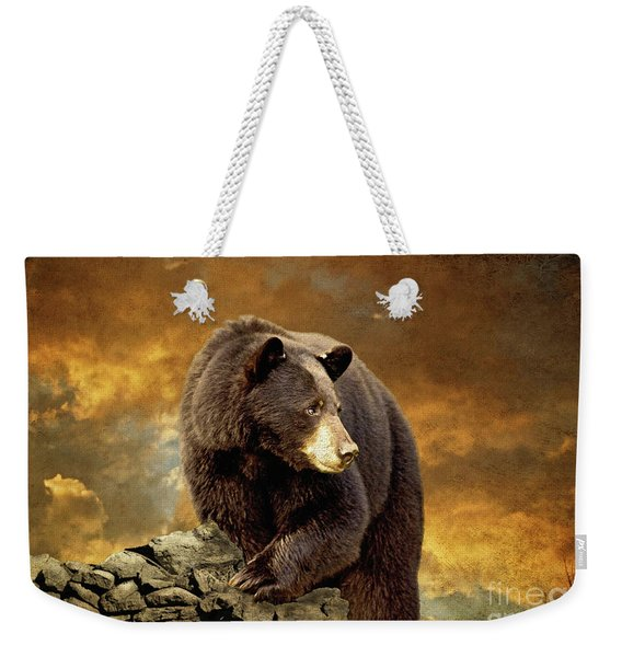 The Bear Went Over The Mountain Weekender Tote Bag