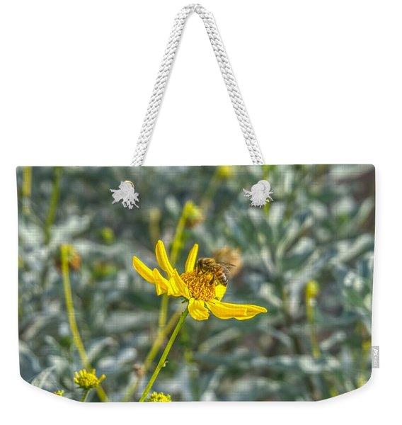 The Bee The Flower Weekender Tote Bag