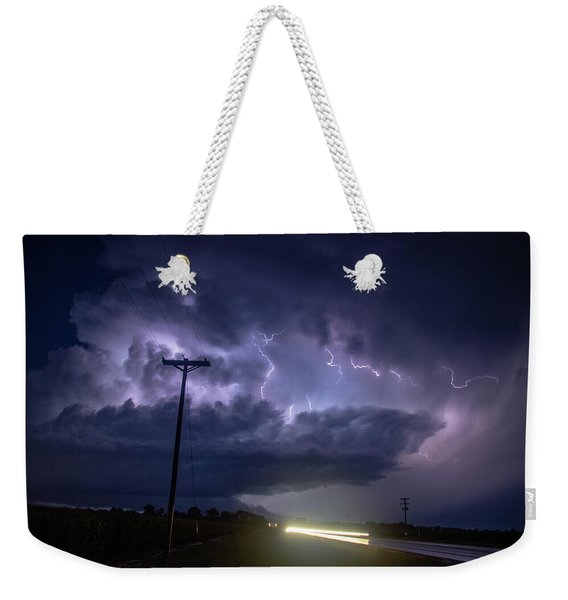 Weekender Tote Bag featuring the photograph The Best Supercell Of The Summer 043 by NebraskaSC