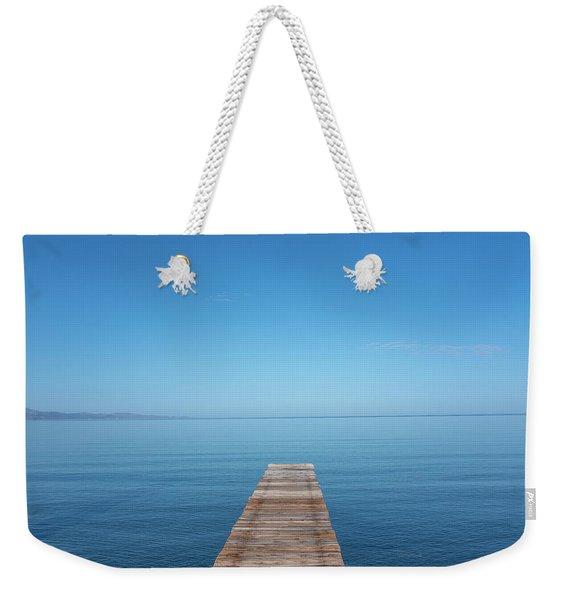 The Big Deep Blue Weekender Tote Bag