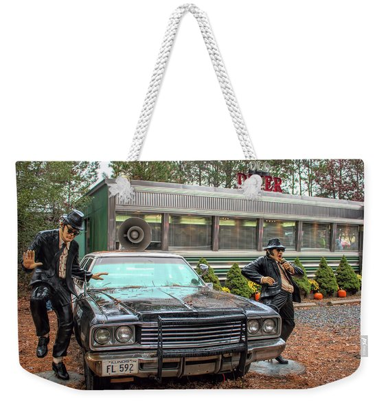 The Blues Brothers At A Diner Weekender Tote Bag