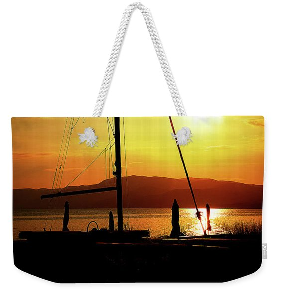 the Boat and the Sky Weekender Tote Bag