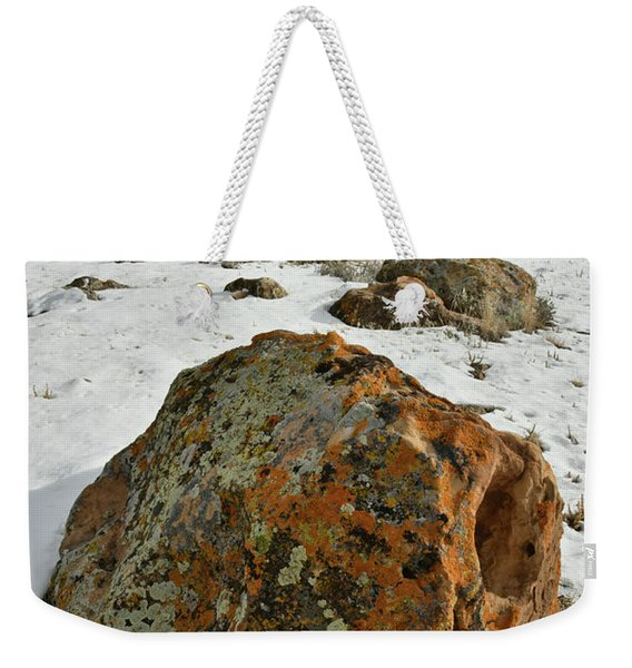 The Book Cliff's Colorful Boulders Weekender Tote Bag