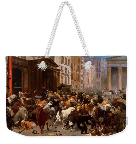 The Bulls And Bears In The Market, 1879 Weekender Tote Bag