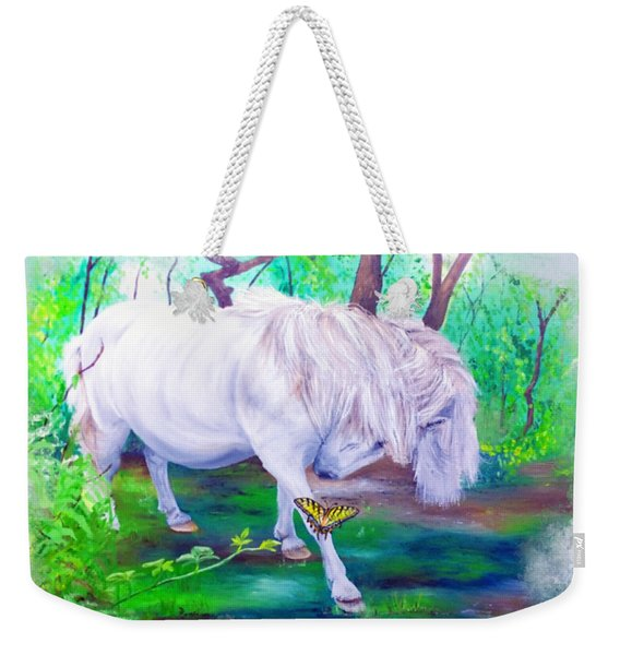 The Butterfly And The Pony Weekender Tote Bag