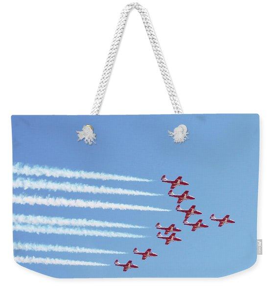 The Canadian Snowbirds Weekender Tote Bag