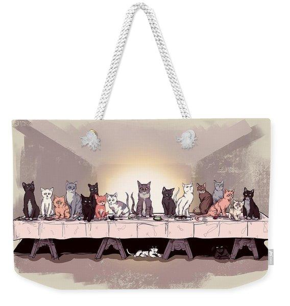 The Cat Supper Weekender Tote Bag