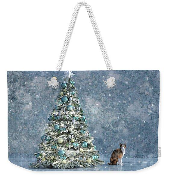 The Christmas Tree Cat Weekender Tote Bag