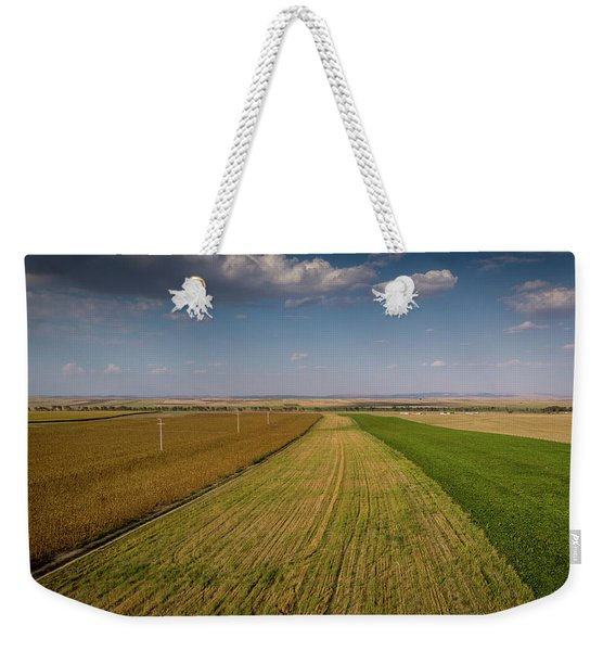 The Colored Fields Weekender Tote Bag