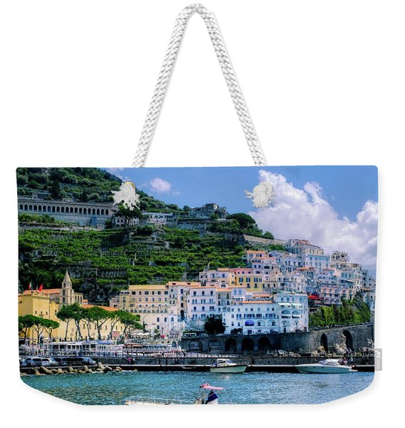 The Colorful Amalfi Coast  Weekender Tote Bag