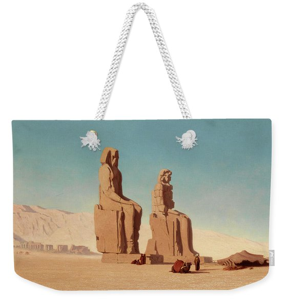 The Colossi Of Memnon Weekender Tote Bag