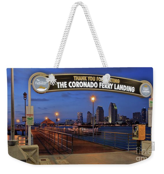 Weekender Tote Bag featuring the photograph The Coronado Ferry Landing by Sam Antonio Photography