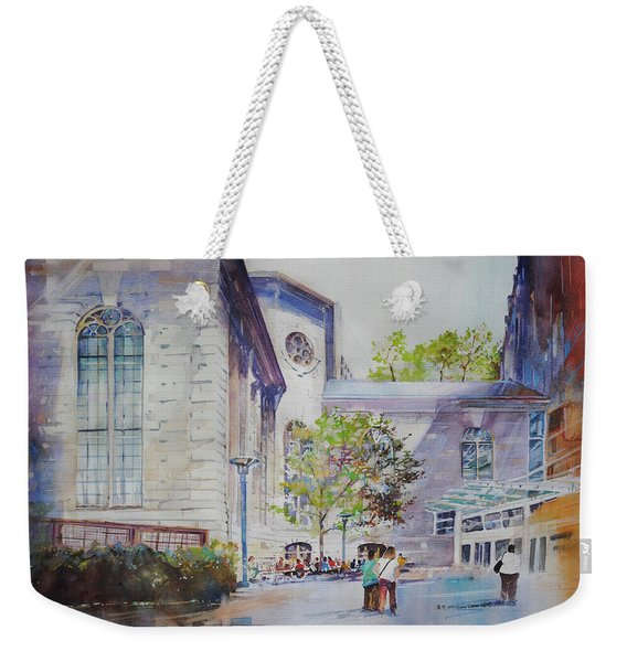 The Courtyard At Mass General Hospital Weekender Tote Bag
