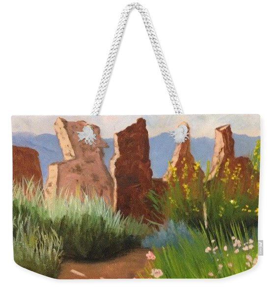 The Courtyard Weekender Tote Bag