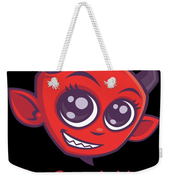 The Devil Made Me Do It Weekender Tote Bag