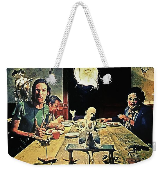 The Dinner Scene - Texas Chainsaw Weekender Tote Bag