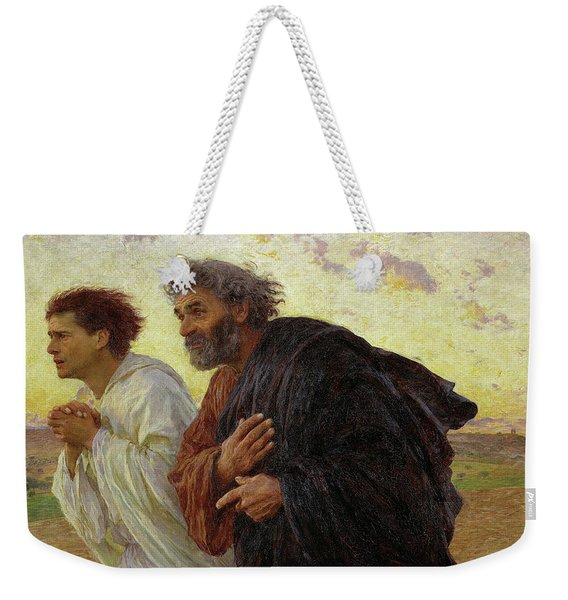 The Disciples Peter And John Running To The Tomb On The Morning Of The Resurrection, 1898 Weekender Tote Bag