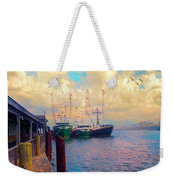 The Docks At Cape May Weekender Tote Bag