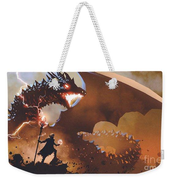 The Dragon Wizard Weekender Tote Bag