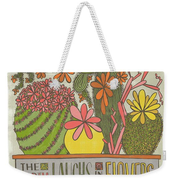 The Earth Laughs In Flowers Ralph Waldo Emerson Quote Weekender Tote Bag