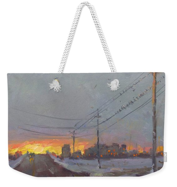 The End Of A Gray Day Weekender Tote Bag