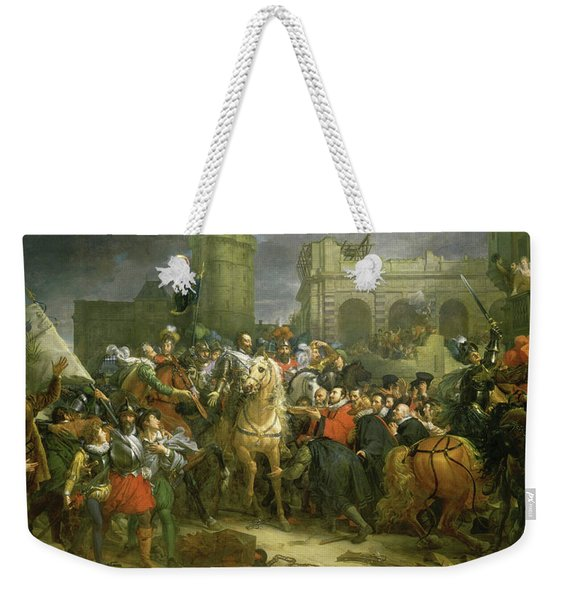 The Entry Of Henri Iv Into Paris, 1594 Weekender Tote Bag