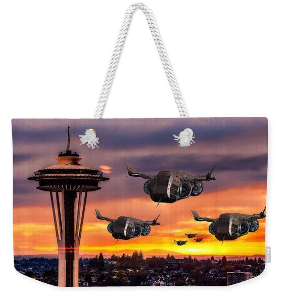 The Evening Commute Weekender Tote Bag