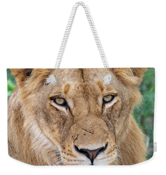 The Face Of Experience Weekender Tote Bag